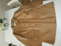 Womens leather coat size 12