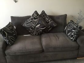 3seater sofa cuddle chair and storage footstool from smoke and pet free home immaculate condition