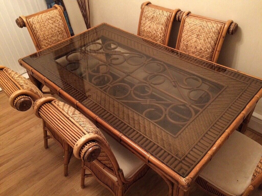 Kiani Cane Dining Table And Chairs