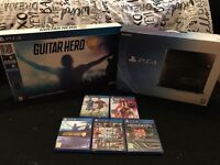 Ps4 with box, guitar hero and other games! **PRICE DROP**