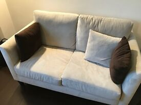 Two seater sofa - barely used (<1 year old)