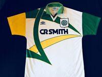 Vintage Celtic Football Top Season 94/95 Away Kit Short sleeves Size Large