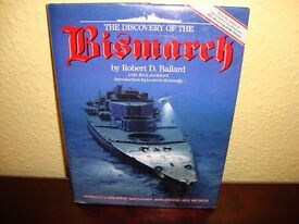 The Discovery of the Bismarck by Robert D Ballard, Hardback, Pages 232.