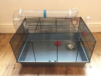 Hamster cage / mouse cage with tubes