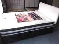 💥🇬🇧🔥🇬🇧FREE DELIVERY DOUBLE BED DIVAN CRUSHED VELVET BLACK