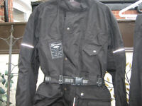 MOTORCYCLE CORDURA JACKET AND TROUSERS SIZE-SMALL