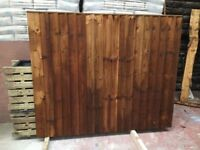 🌟 Pressure Treated Timber Brown Feather Edge Fence Panels