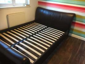 Kingsize leather bed