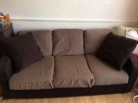 Sofa bed 3 seater in a Brown Colour