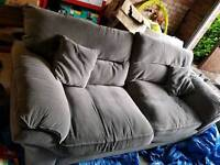 Chloe 3 seater sofa high back handmade from solid hardwood and fabric