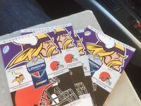 Vikings v Browns tickets at Twickenham 29th October