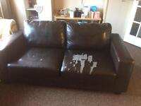 Leather sofa free to a good home