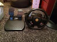 Xbox 306 steering wheel and pedals