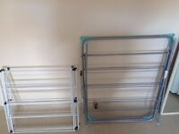 3 metal clothes drying racks