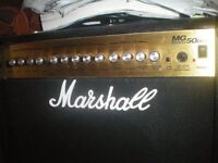 marshall amplifer MG50DFX for sale