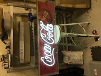 NEON COKE SIGN/ COCA COLA