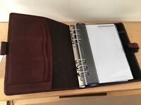 Never Used Brown Filofax Hampstead A5 Personal Organiser, Waxed Leather