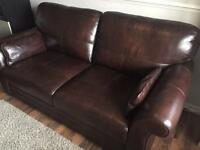 Leather Chocolate Brown 3 Seater Sofa