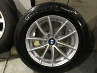 ALLOYS X 1 OF 17 INCH BRAND NEW BMW X3 4X4 ALLOY WHEEL WITH A AS NEW BRIDGESTONE DUELER TYRE FITTED