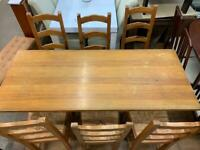 Wooden Dinning Table + 6 Dinning Chairs