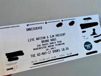 Bruno Mars Tickets (x2) - Manchester