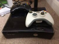 Xbox 360 slim - black - 500GB + games