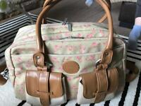 Vintage style baby changing bag