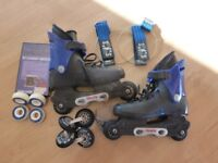 Roces Rome Inline skates size 6 Euro 40 plus wheels and accessories. 2 pairs