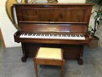 1895 Rosewood Bechstein, Berlin Upright Piano & Stool - CAN DELIVER