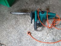 Chainsaw electric with safty brake and chain guard with long lead vgc gwo
