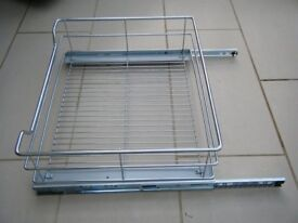 4 Metal basket drawers for standard 600mm cabinets.