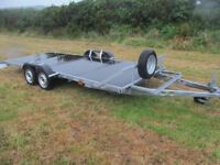 A CHEAP TWIN AXLE 2000 KG FLATBED TRAILER IN FANTASTIC CONDITION