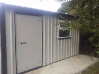 pvc coated steel sheds and garages