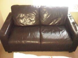 Leather 2 Seat Sofa