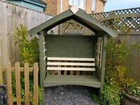 Garden Arbour with Felt Shingle Roof