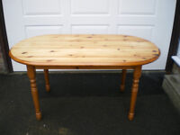 A VERY NICE REFURBISHED PINE DINING TABLE