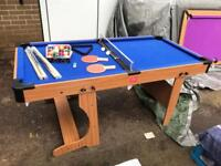 Bce 6ft Folding pool/tennis table