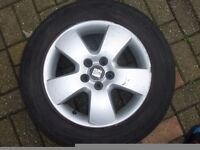 Seat Leon Alloy Wheels 5x100 Fit Vw Golf Audi Skoda Etc 195/65/15 tyres
