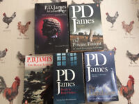 PD James Novels x 5
