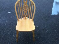 Pine cottage style chair one only