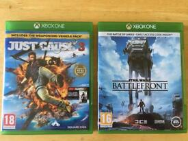 Xbox games - Just Cause 3 and Star Wars Battlefront