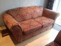 sofa sofa 'Woburn' 3 seater bedsette sofa plus 2 chairs + stool