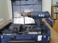 AEG 18 Volt Hammer Drill - little used