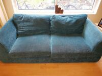 Blue teal 3 seater sofa