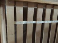 King size wood effect bed from Next