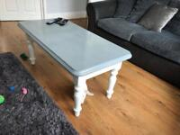 Upcycled lovely two tone coffee table. Solid pine originally.