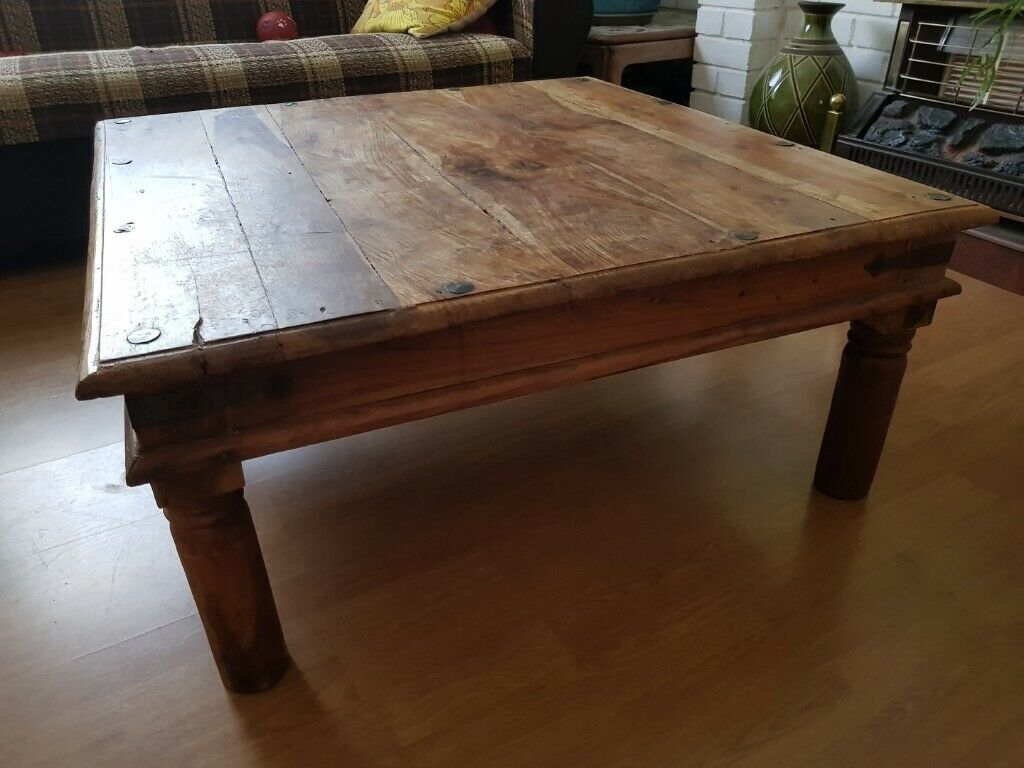 Outstanding Coffee Table Large Solid Wood Square Table Rustic Mexican Style In Plymouth Devon Gumtree Machost Co Dining Chair Design Ideas Machostcouk