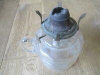 antique glass oil paraffin lamp