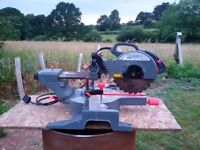 "Sliding compound mitre saw 255 mm 10"" blade"