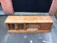 Solid waxed pine entertainment unit - 175x44x56